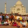 India Taj Mahal Indian tourists