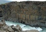 Aldeyjarfoss basalt columns