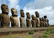Greatest concentration of Moai