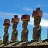Anakena-Moai near the beach