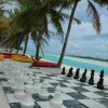 Aitutaki – Beach of the main hotel