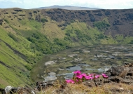 Crater lake of Rano Kau
