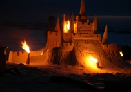 Boracay Sand castle at night