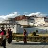 Pilgrim going to Potala