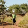 Woman carrying water