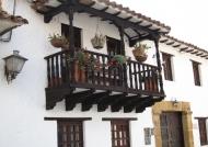 Wooden balcony