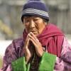 Pilgrim praying
