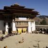 Gangtey Monastery courtyard
