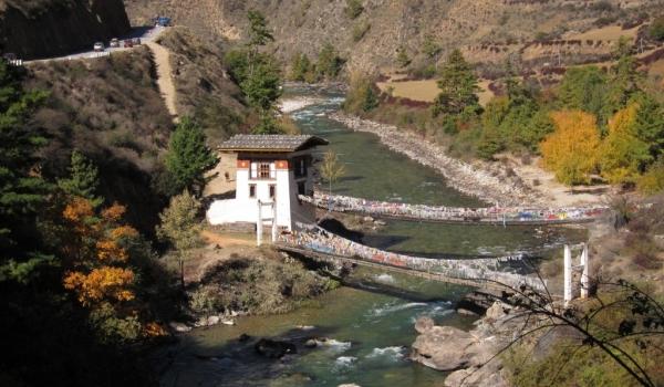 Iron bridge over Paro river