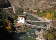 Iron bridge over Paro river