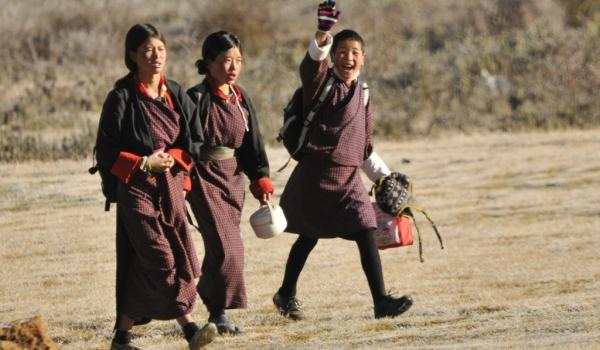 Students in Phobjikha Valley