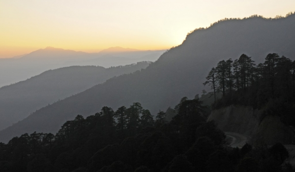 Sunrise at Dochula Pass