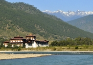 View of Punakha Dzong
