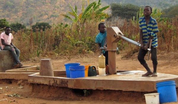 Public water pump