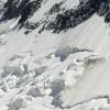 Slide of snow