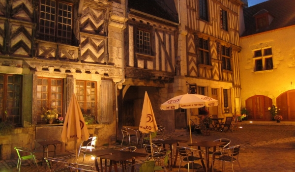 Cafe on a cobbled street