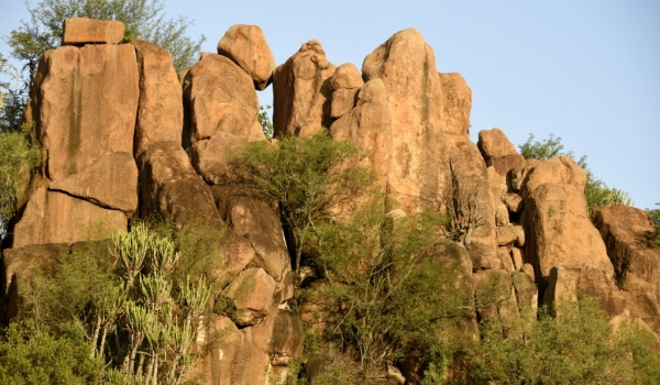 The rocks look like a fortress