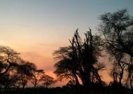 Sunset setting fire
