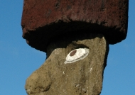 Moai with pukao or topknot