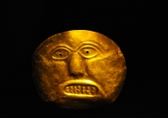 Gold funeral mask