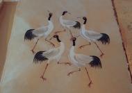 Painting on daphne bark