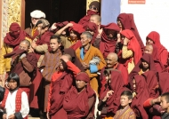 Buddhist monks gathering