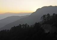 Sunrise at Dochula Pass