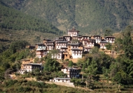 Village on a hillside