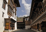 Paro Dzong courtyard