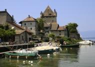 The castle on Lake Geneva