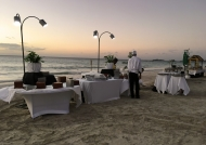 and dinner on the beach