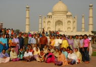 India Taj Mahal Indian tourists