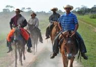 Cowboys riding around