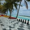 Aitutaki – Beach of the main hotel
