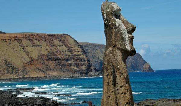 Moai near Ahu Tongariki
