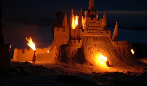 Boracay Sand castle at night