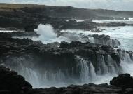 Sea waterfalls south coast