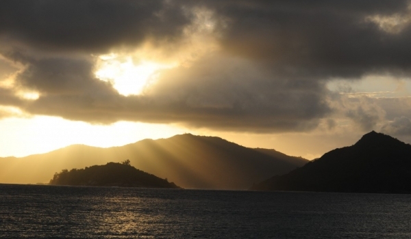 Sunset in «La Digue»