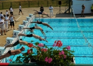 Swimming start jump