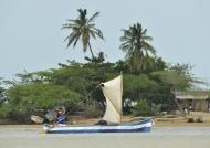 Lagoon boat near Riohacha