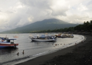 Batu Putih black sand beach
