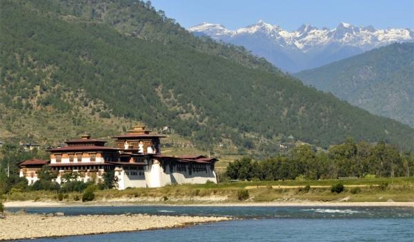 View of Punakha Dzong