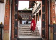 Monk in Thimphu Dzong