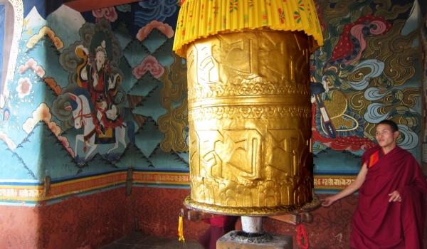 Big prayer wheel