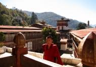 Monk going to pray