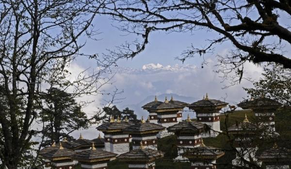 Chortens facing Himalaya