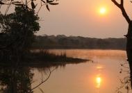 Lifupa lodge at sunset