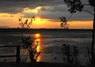 Sunset at Rufiji lodge
