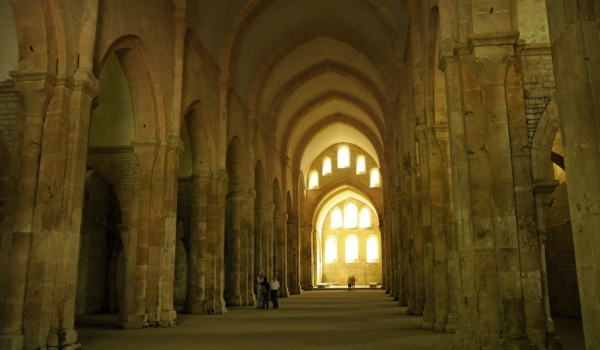 Fontenay Abbey – church nave