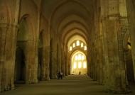 Fontenay Abbey – church nave